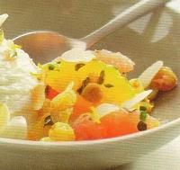 Citrusvruchten met vanille-roomijs