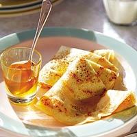 Gatenpannenkoekjes met honing