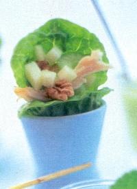 Little gem met waldorfsalade