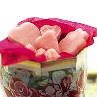 Roze borstplaat