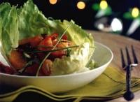 Salade met garnalen en sinaasappel