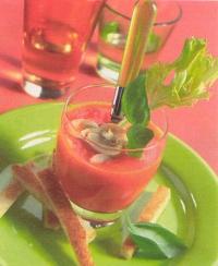Wortelpaprikasoep met champignons