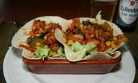 Tortilla met roerbakgroenten